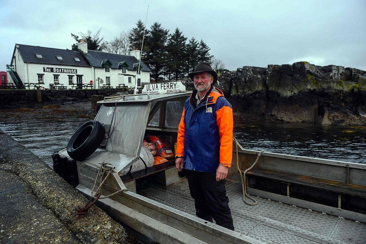 Donald Munro operates the Ulva Ferry that takes visitors across to the Isle of Ulva.
