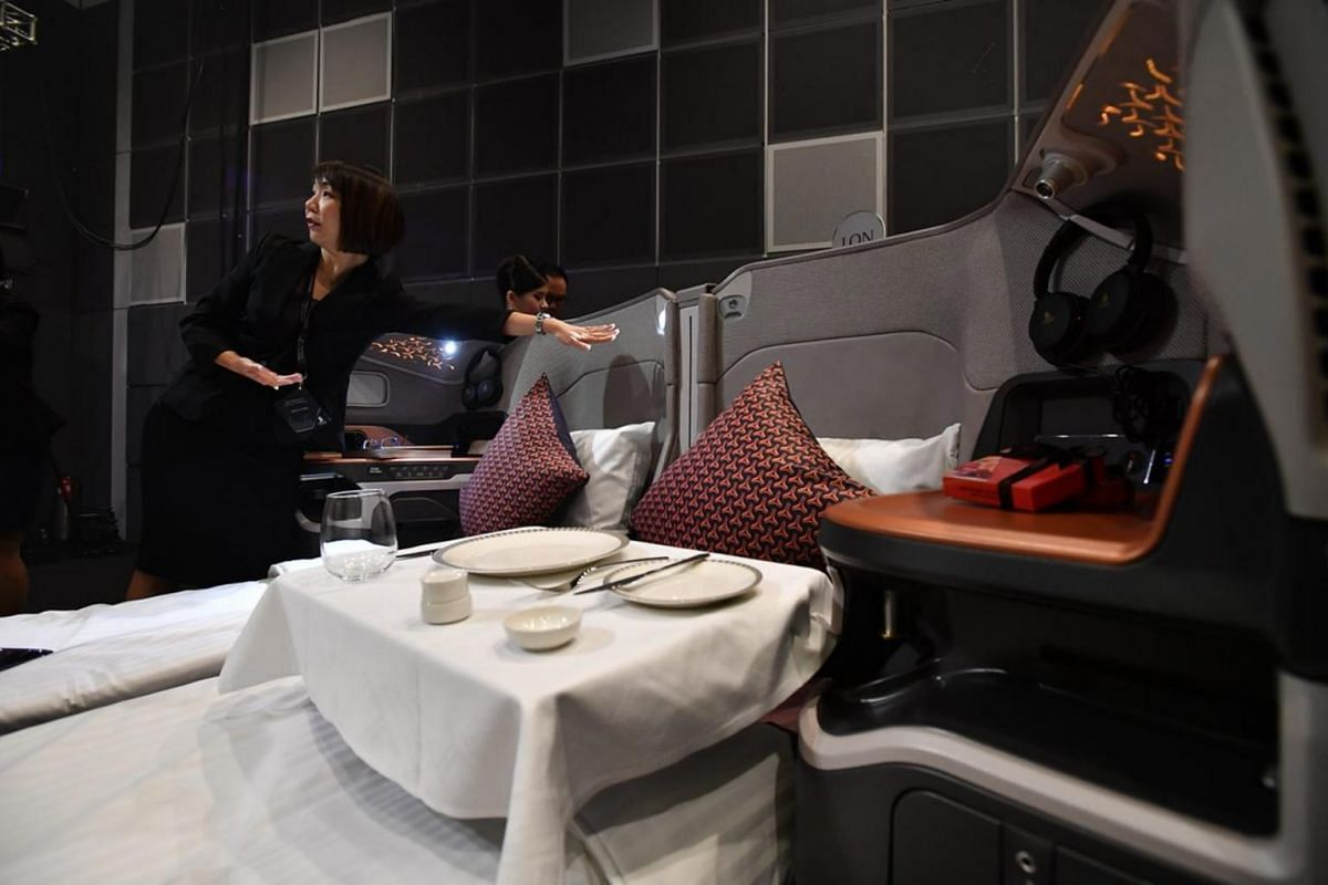 Business class' new look for SIA's Airbus 380.