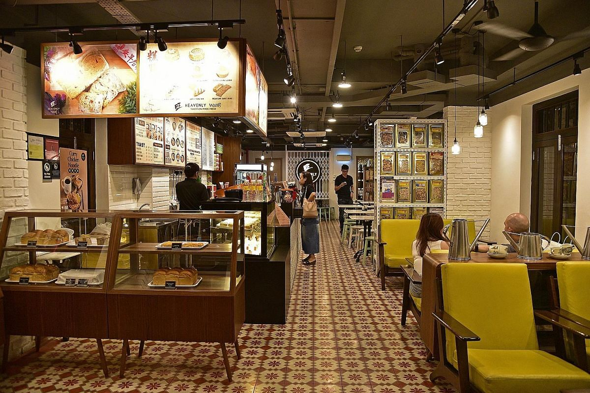 Heavenly Wang cafe (right), which offers traditional snacks (above), now occupies the site of the former bakery at The Red House.