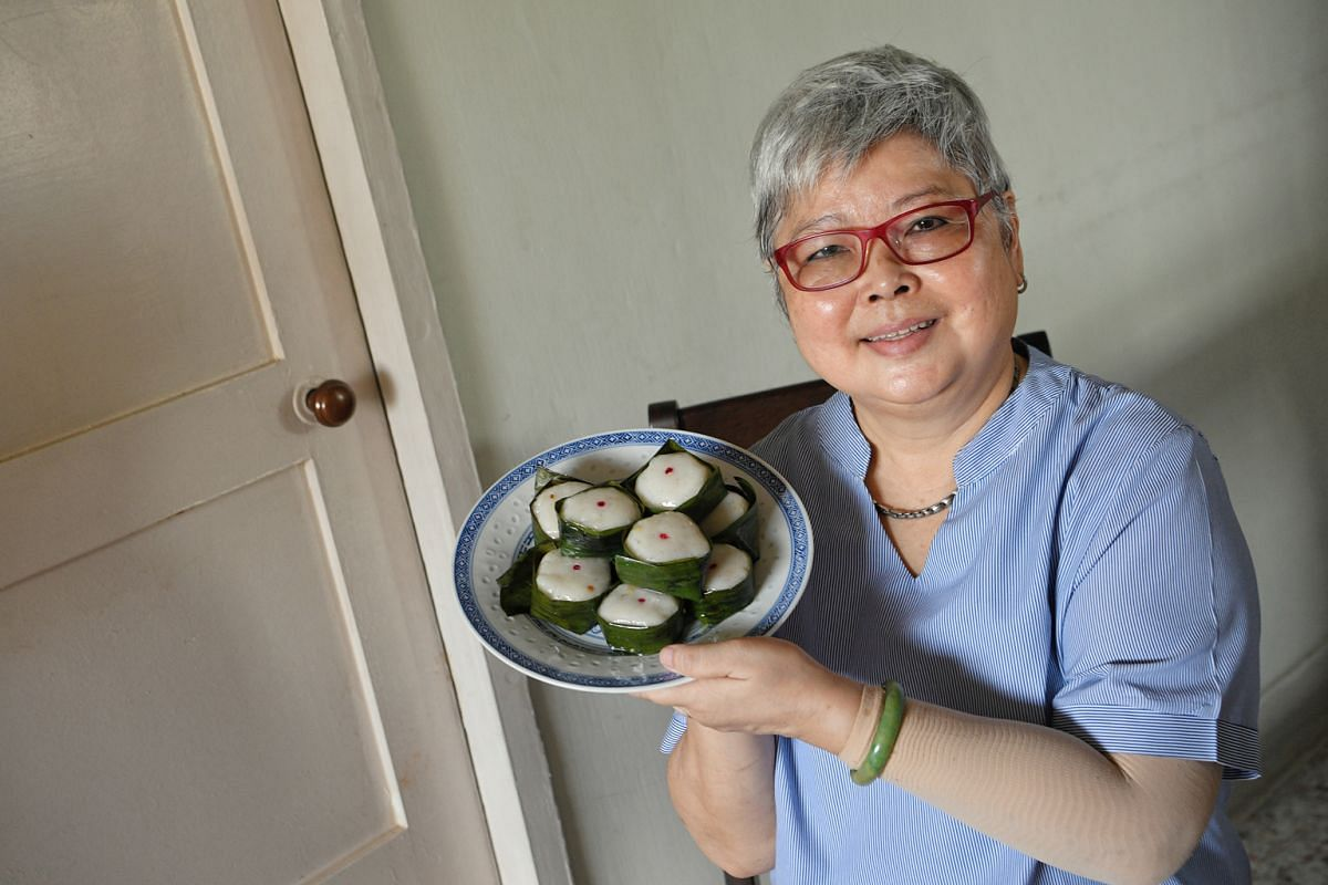 Madam Ho Soo Pong tweaked her recipe for yi bua over the years after attending several cooking classes.