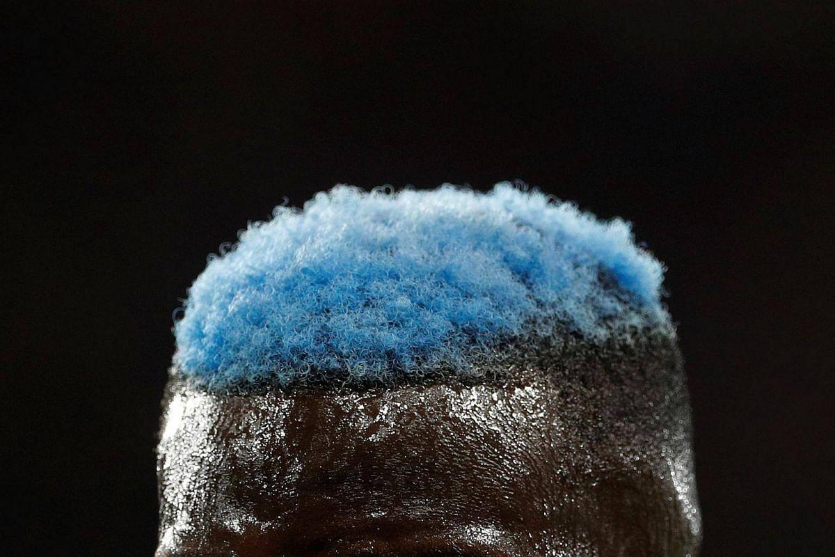 General view of the hair of Chelsea's Tiemoue Bakayoko.