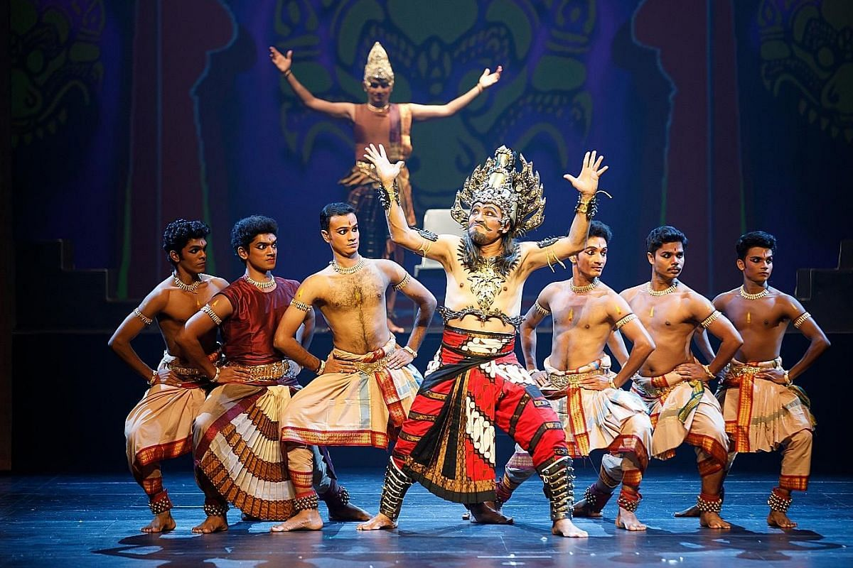 Anjaneyam - Hanuman's Ramayana (above), a retelling of the Ramayana from the perspective of Hanuman, the monkey warrior, is a cross-cultural performance.