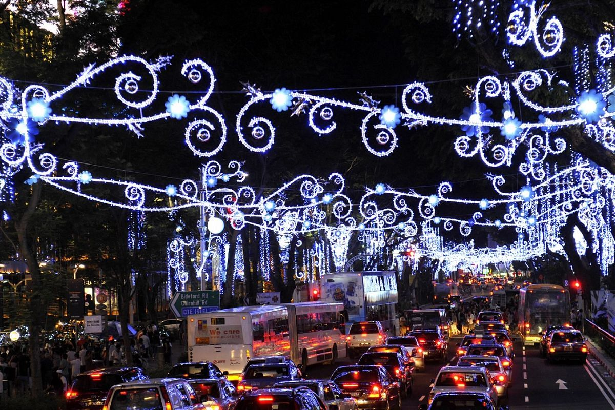 2011: Orchard Road sparkled with wreaths of blue and silver blooms on Nov 19 as the Christmas lights adorning the shopping district were switched on for the first time. That year's Christmas light-up was themed Christmas Blooms in Singapore.