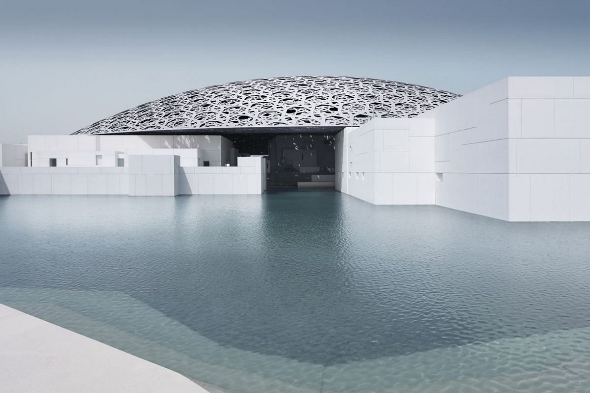 The exterior of the new Louvre Abu Dhabi museum.