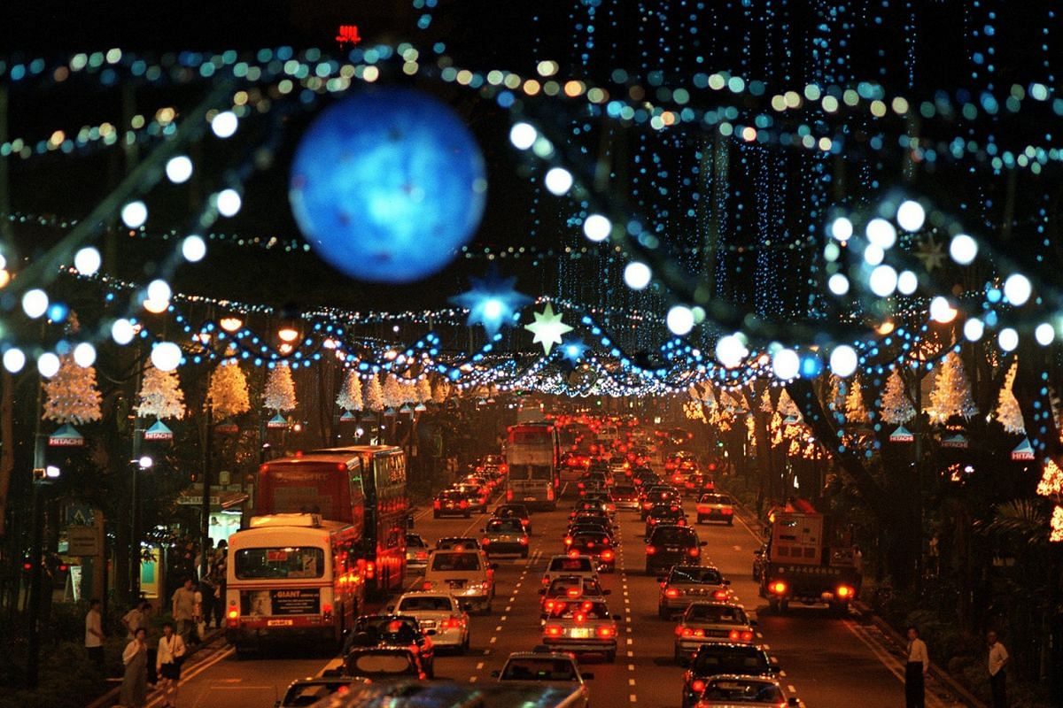 1999: Cool blue and winter white were the colours of the Millennium Christmas light-up.