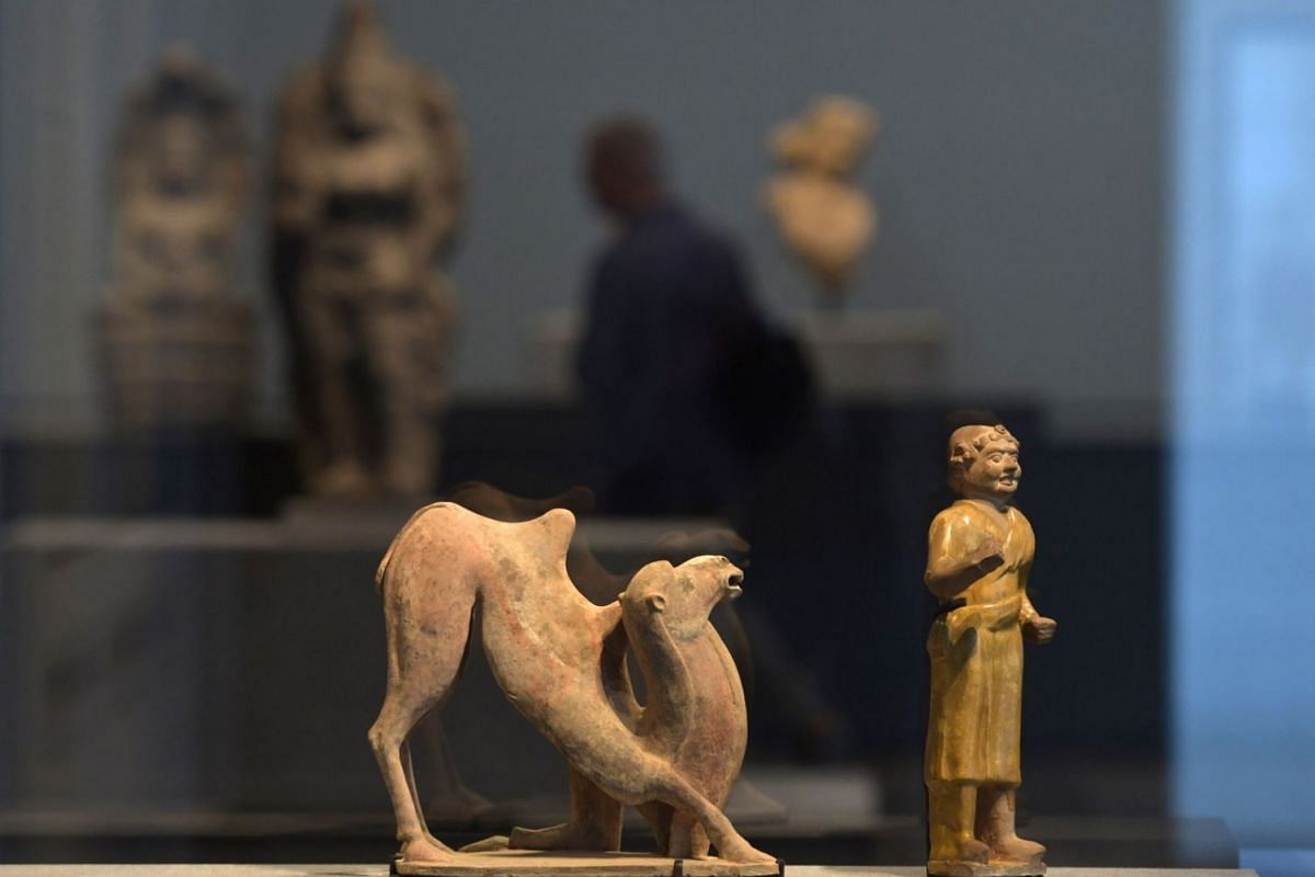 Statues displayed in a gallery at the Louvre Abu Dhabi Museum during a media tour on Nov 6, 2017.
