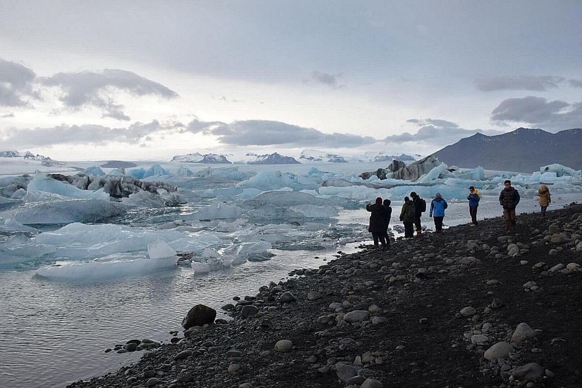 Iceland's glaciers and icebergs are top attractions.