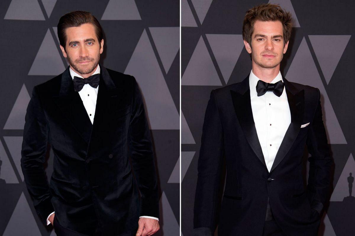 From left: Jake Gyllenhaal, Andrew Garfield.