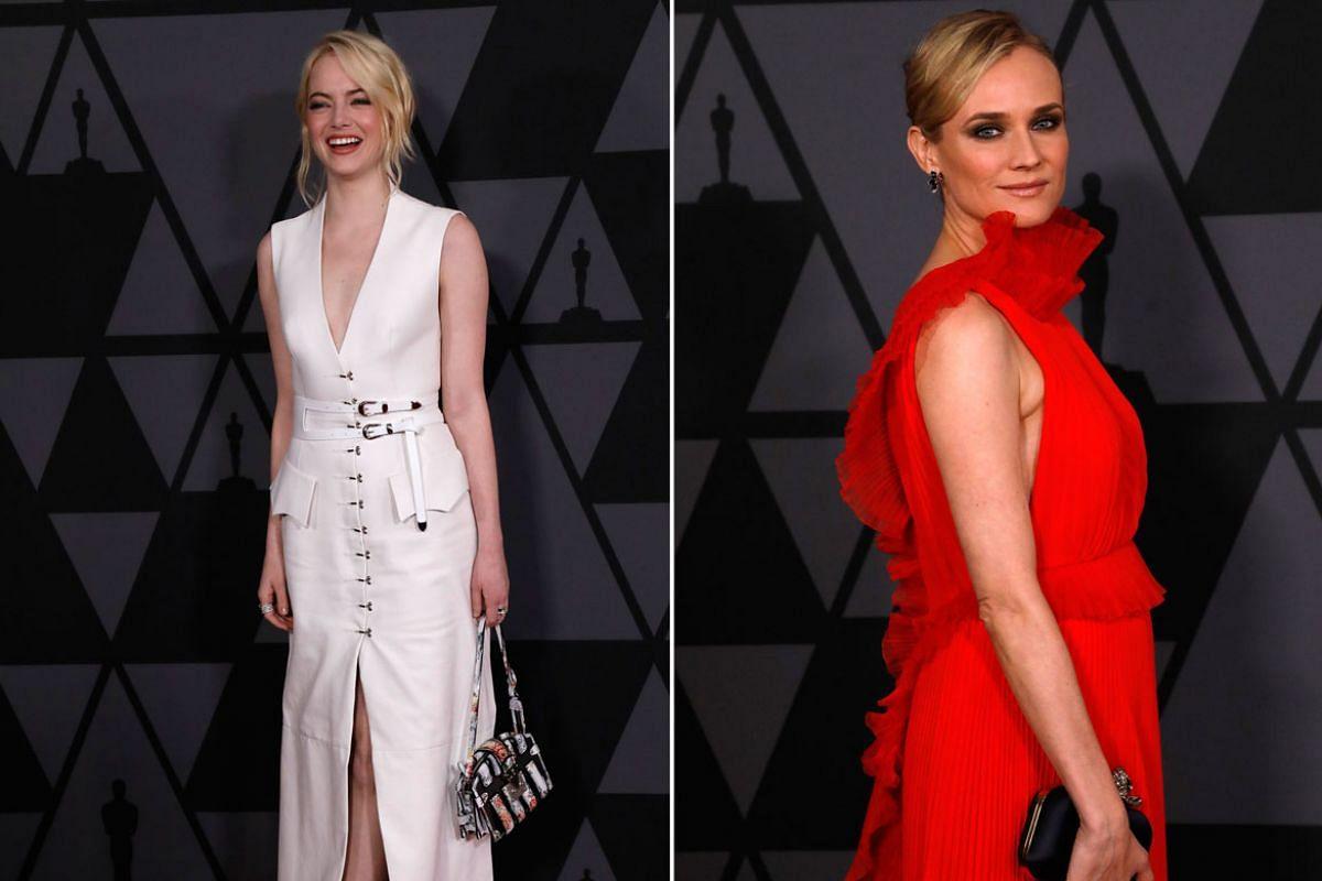 From left: Emma Stone, Diane Kruger.