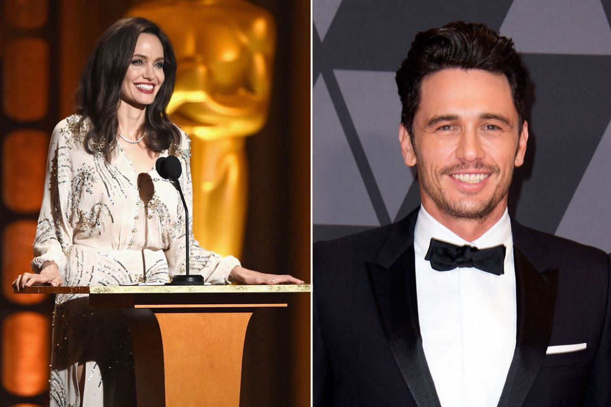 From left: Angelina Jolie, James Franco. PHOTOS: AFP