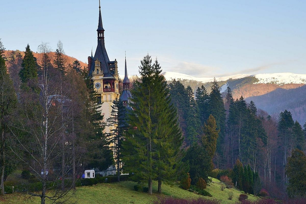 In building the Stavropoleos Monastery Church in 1724, at the height of the Ottoman occupation of Romania, the Orthodox church helped to bind Romanians in a common cause. Peles Castle (right) in the town of Sinaia has interiors (above) that are a cur