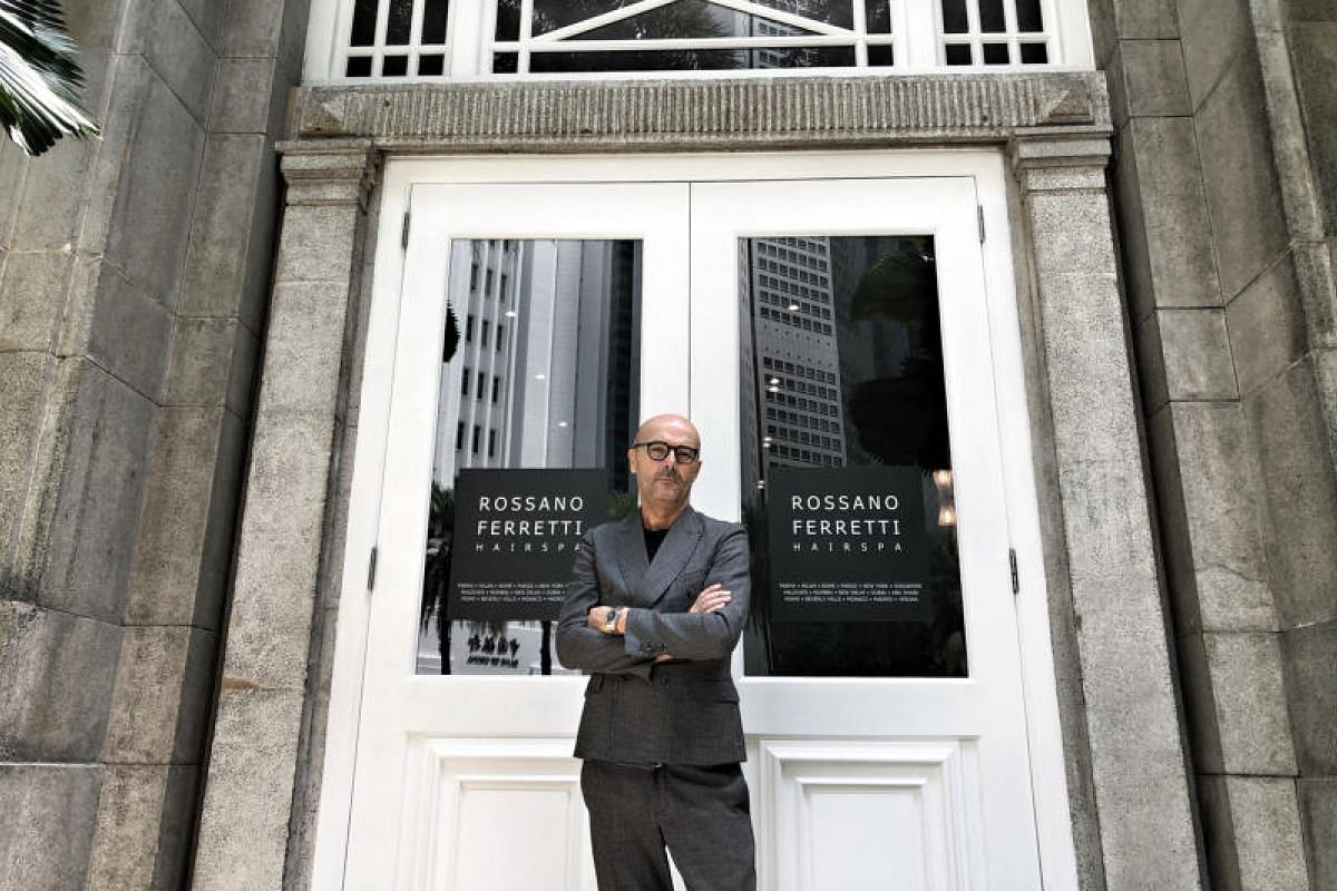 Hairstylist Rossano Ferretti opened his eponymous hair spa in The Fullerton Hotel earlier this week.