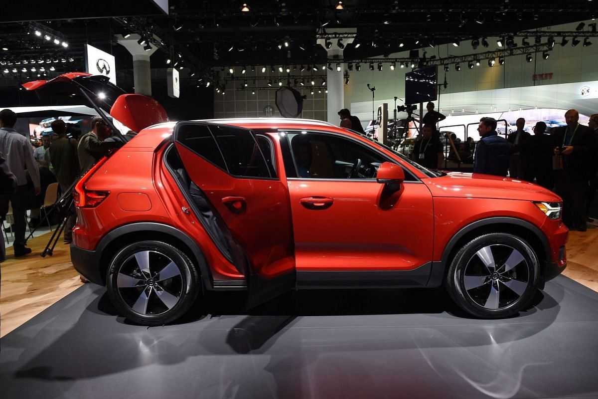 Volvo unveiling the XC40 SUV during the auto trade show AutoMobility LA at the Los Angeles Convention Centre on Nov 29, 2017.