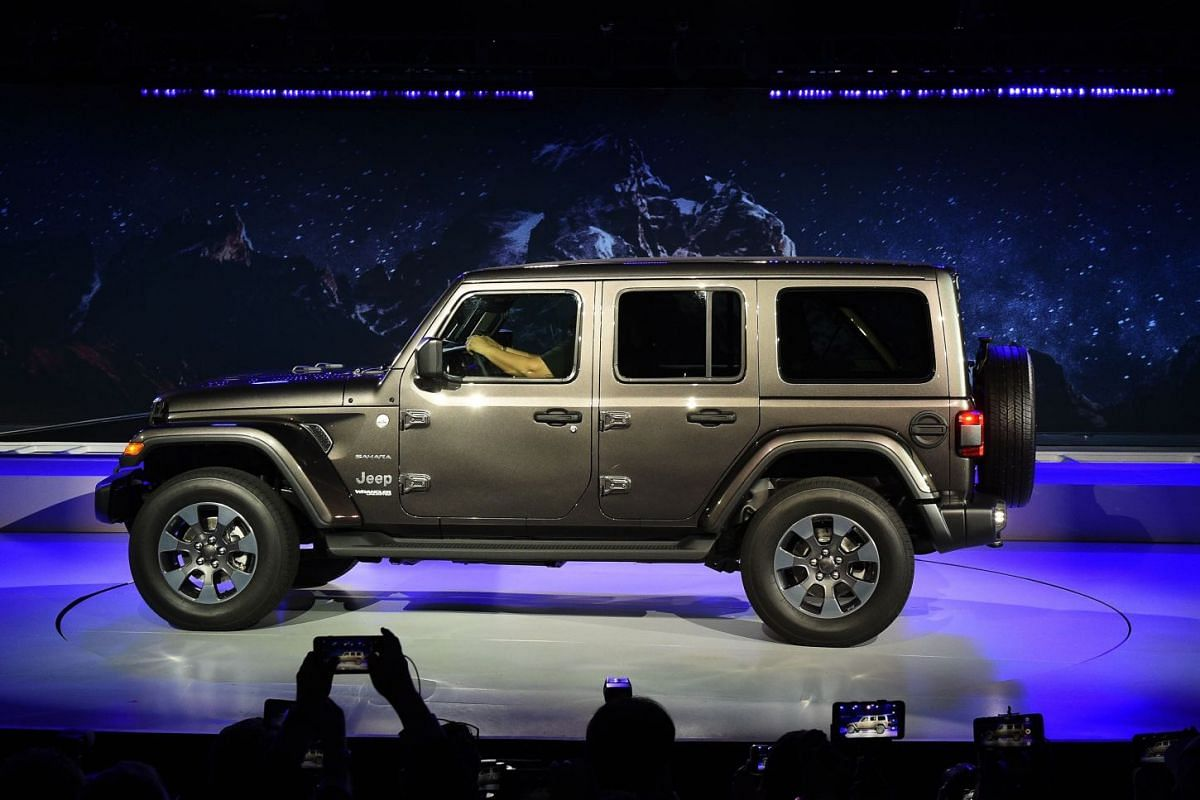 Jeep introducing their 2019 Jeep Wrangler to the media at the AutoMobility LA trade show on Nov 29, 2017.