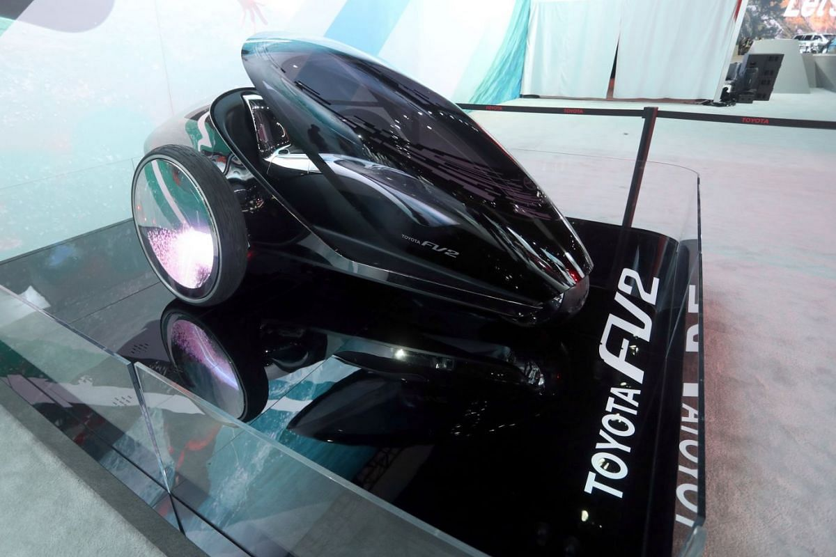 Toyota's new FV2 concept vehicle is seen at the LA auto show, on Nov 29, 2017.