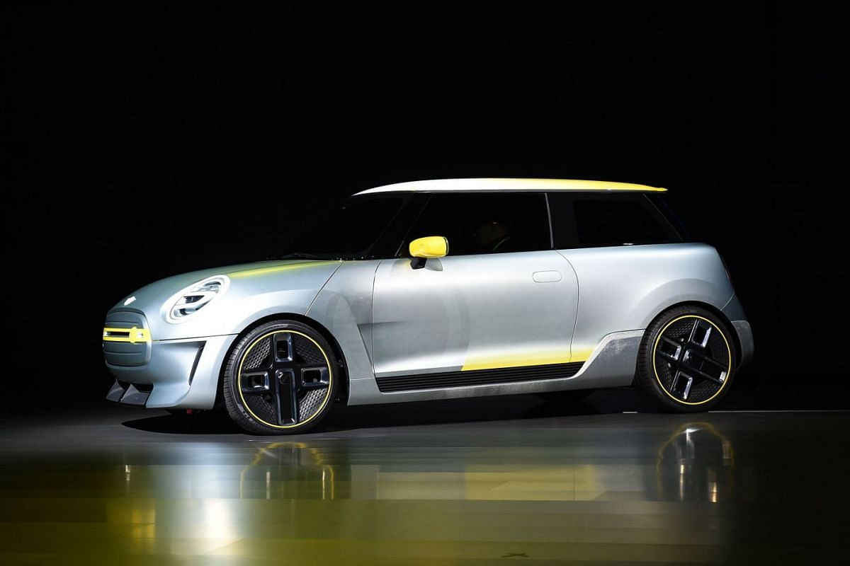 The Mini Electric Concept Car is unveiled by BMW during the AutoMobility LA trade show at the Los Angeles Convention Centre.