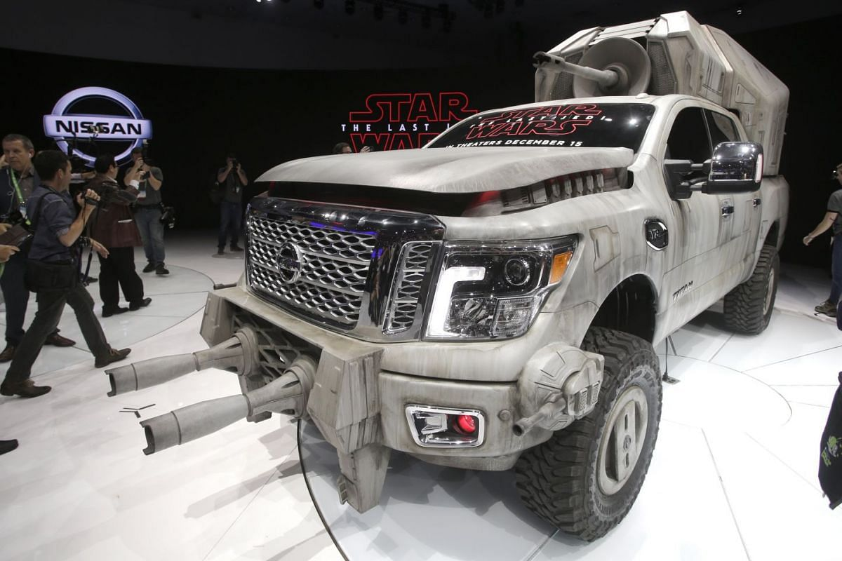 'Star Wars: The Last Jedi' - inspired Nissan Titan show vehicle is unveiled at the LA Auto Show at the Convention Center in Los Angeles, California, USA, Nov 30, 2017. PHOTO: EPA-EFE