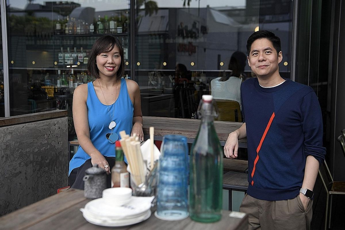 Mr Howard Lo and his wife, Ms Lim Hui Nan, have expansion plans for their restaurant group until 2019. Mr Howard Lo and Ms Lim Hui Nan with their son Henry in Paris last year.