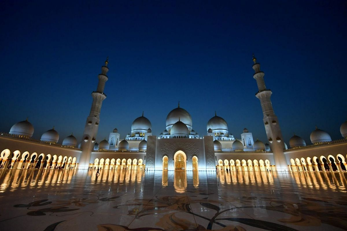 A general view of the Sheikh Zayed Grand Mosque.