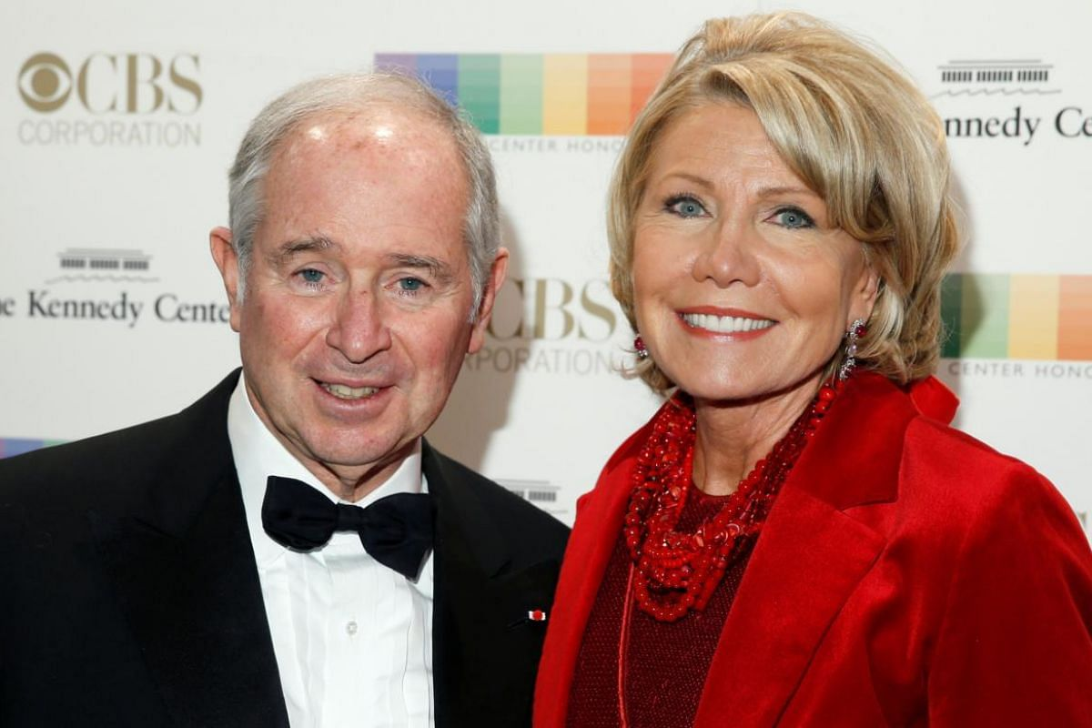 CEO of the Blackstone Group Steve Schwarzman and his wife Christine Hearst Schwarzman.