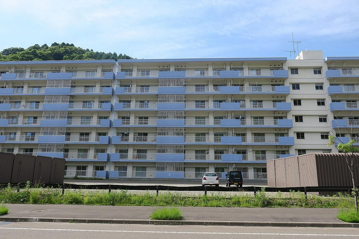 A seven-storey block of apartments that was built as part of Yubari mayor Naomichi Suzuki's ambitious plan for a more compact city nucleus by relocating residents to new apartment blocks in the city centre. Mr Naomichi Suzuki, now 37, was Japan's you