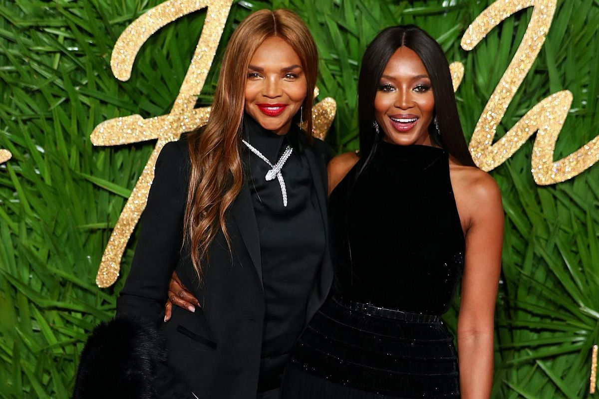 Naomi Campbell (right) and Valerie Morris.