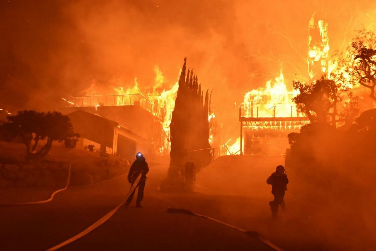 The Thomas Fire raged across some 45,000 acres overnight and had destroyed at least 150 structures, some within the city limits of Ventura.