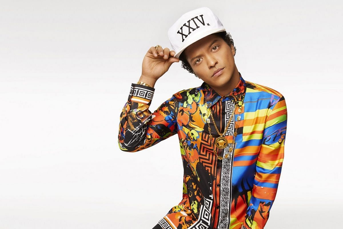 Bruno Mars will perform at two sold-out concerts in Singapore in May.