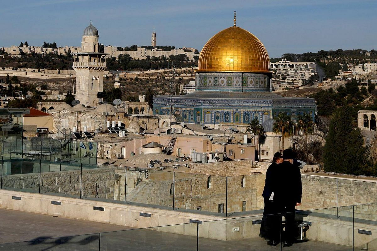 The Dome of the Rock and Jerusalem's Old City, on Dec 4, 2017.