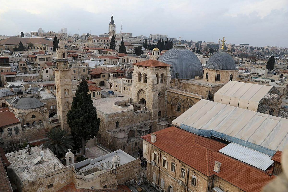 A general view of Jerusalem's Old City, on Dec 5, 2017.