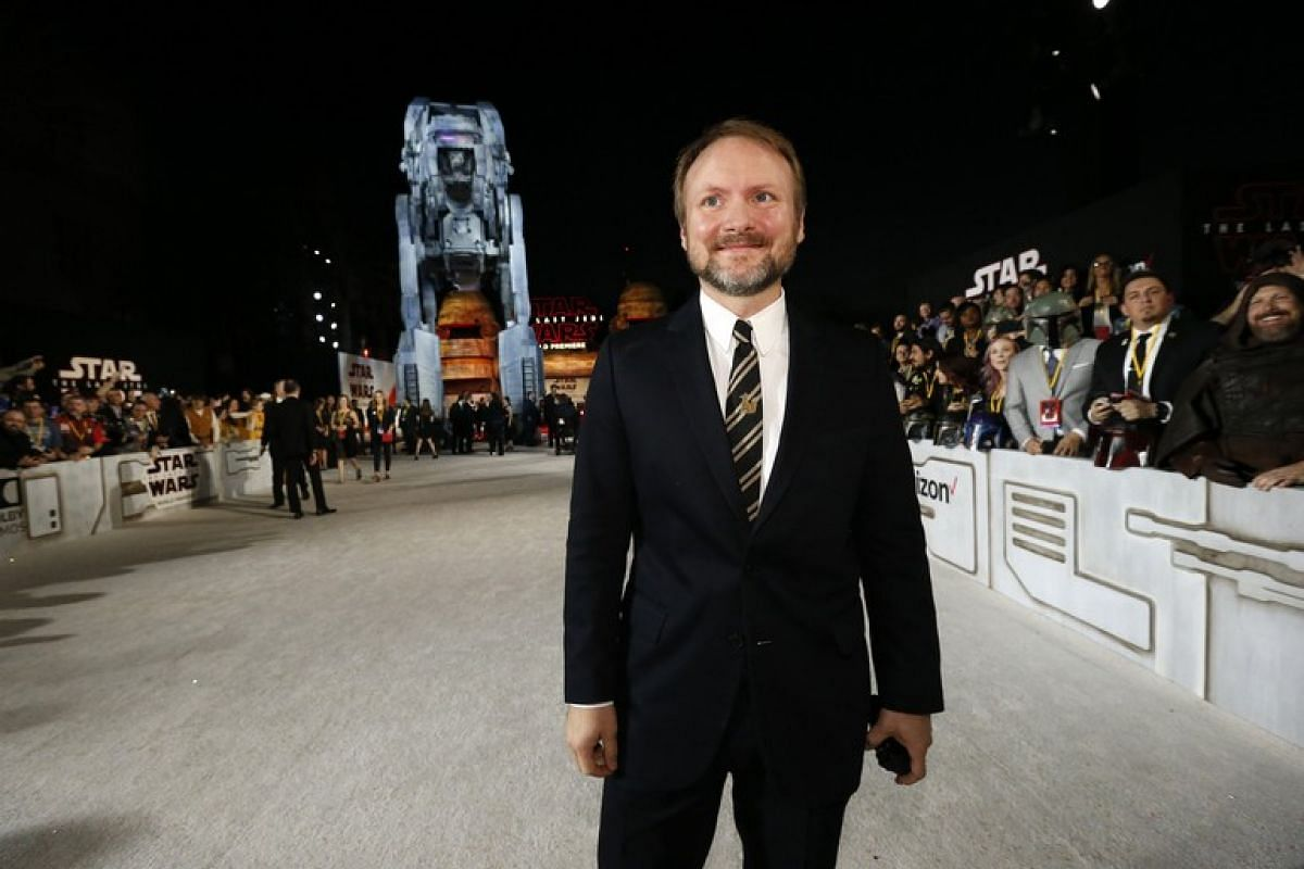 Director Rian Johnson at the world premiere of Star Wars: The Last Jedi in Los Angeles, California on Dec 9, 2017.
