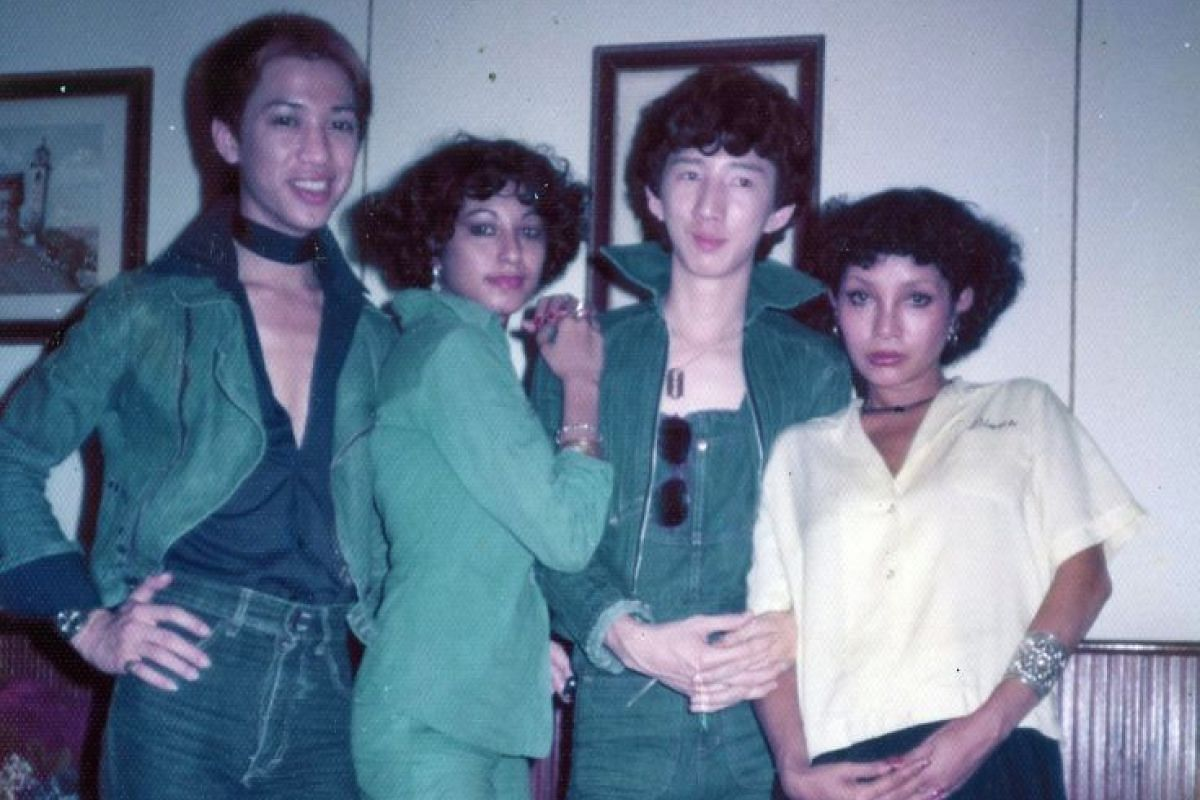My Life So Far: Mr Casey Chua (third from left) with models at the Hair And Fashion Show at the Raffles Hotel in 1975.