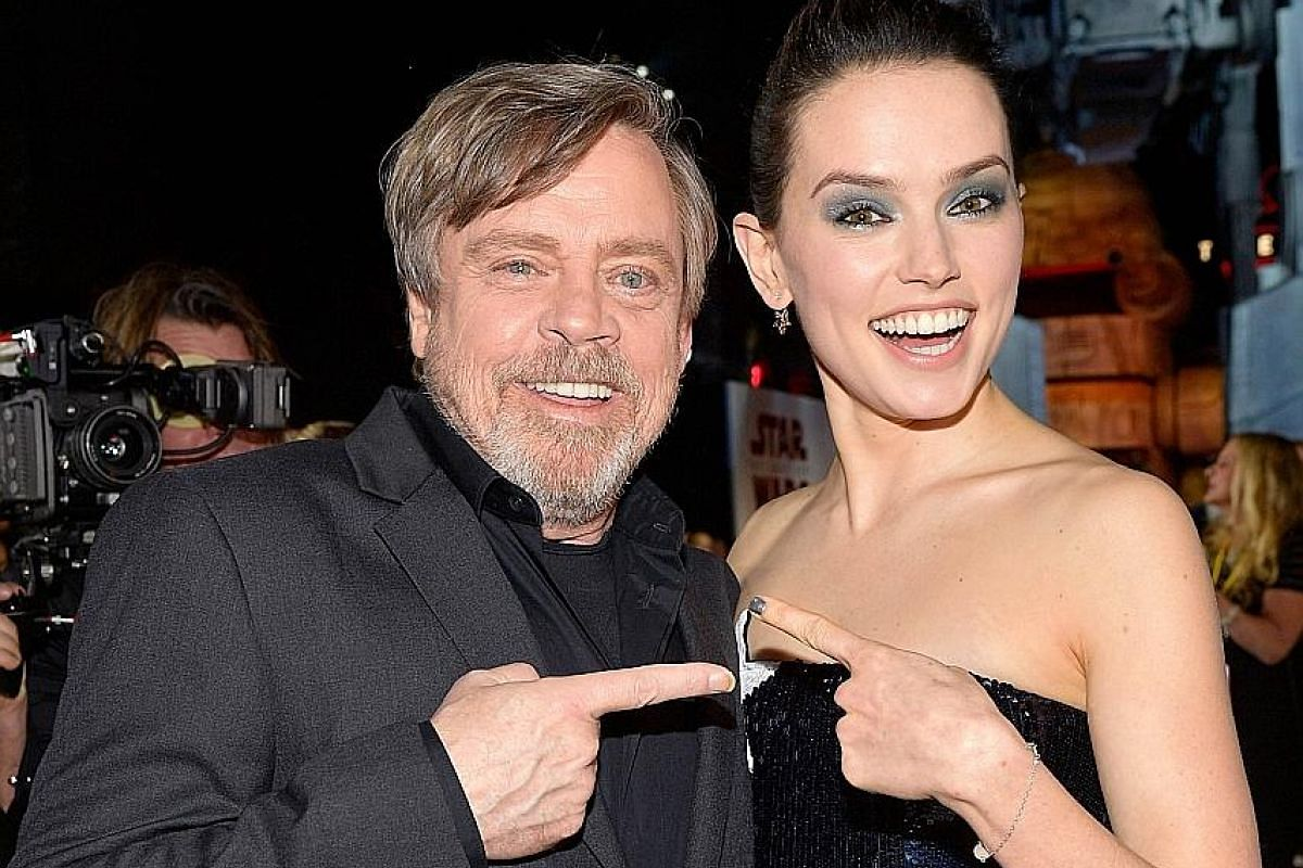 Actors Mark Hamill (left) and Daisy Ridley will reprise their roles as Luke Skywalker and Rey respectively.