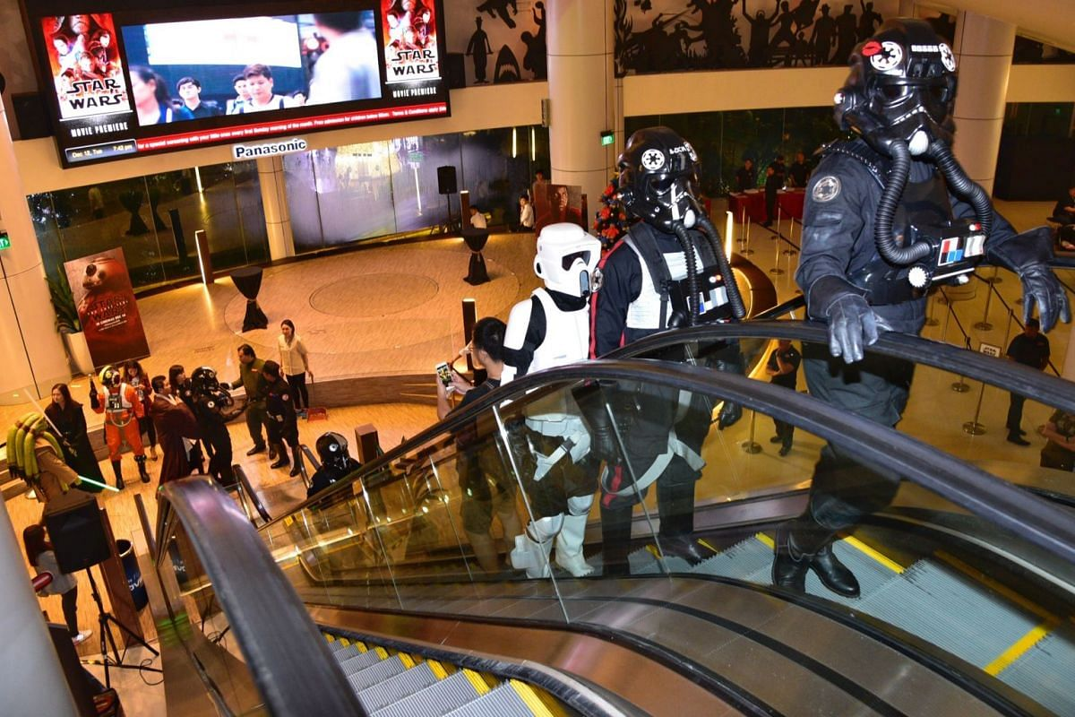501st Legion members seen at the movie premiere of Star Wars: The Last Jedi in Singapore