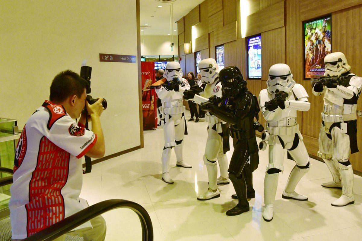 Members of the 501st Legion posing for a photo at Shaw Lido.