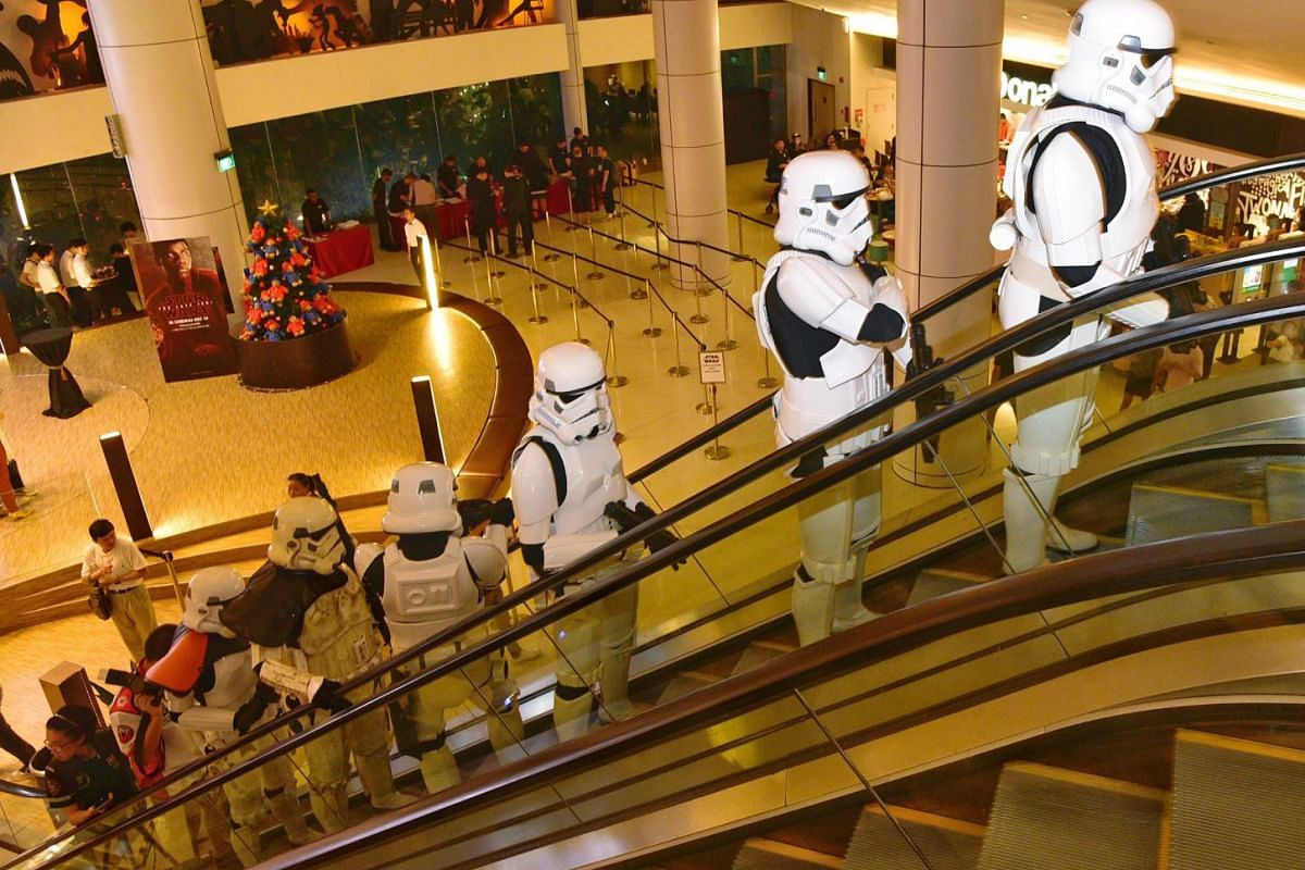 Members of the 501st Legion at the movie premiere of Star Wars: The Last Jedi in Shaw Lido.
