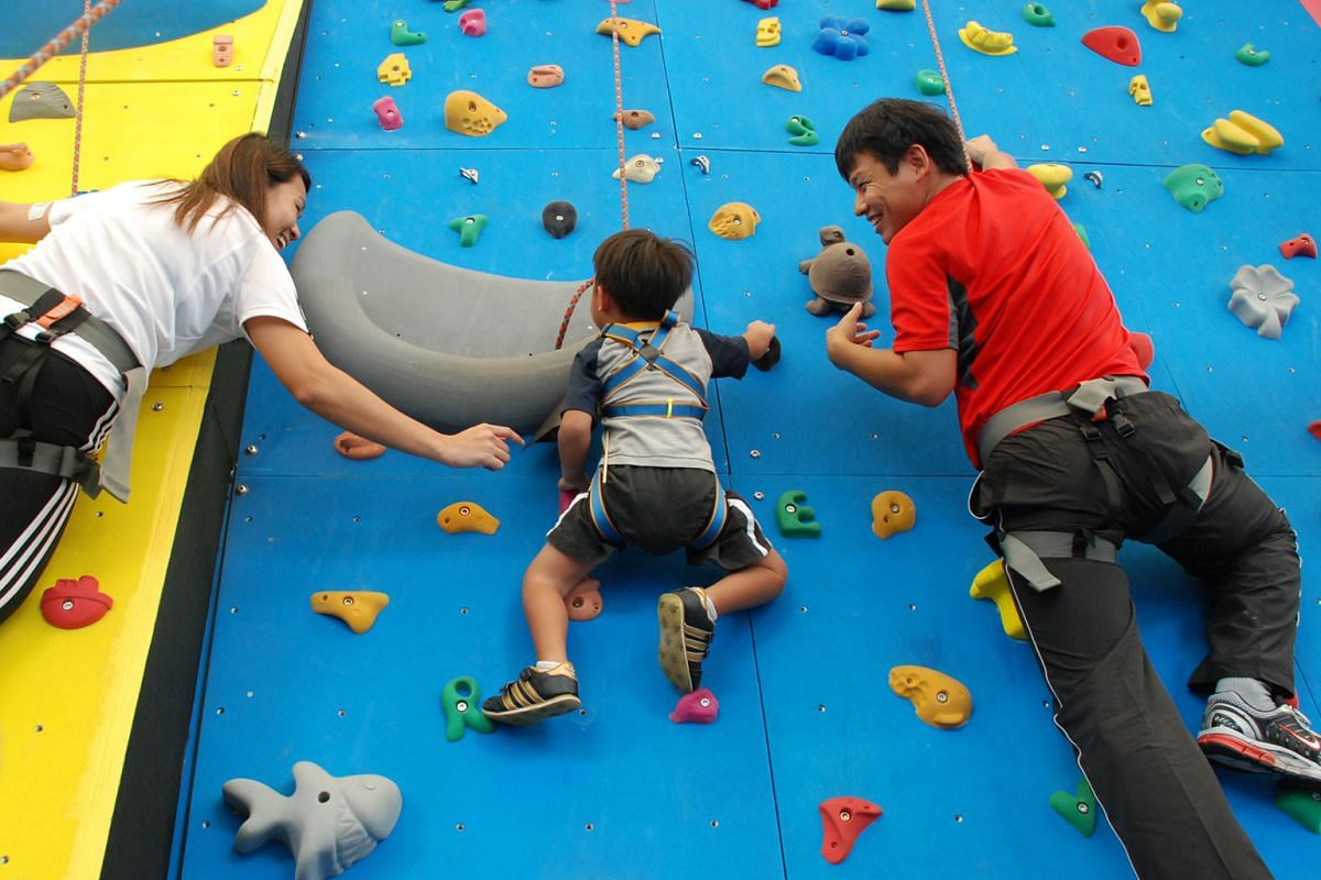 Rock climbing is a family affair at The Rock School, which opened a new branch in Our Tampines Hub in August.