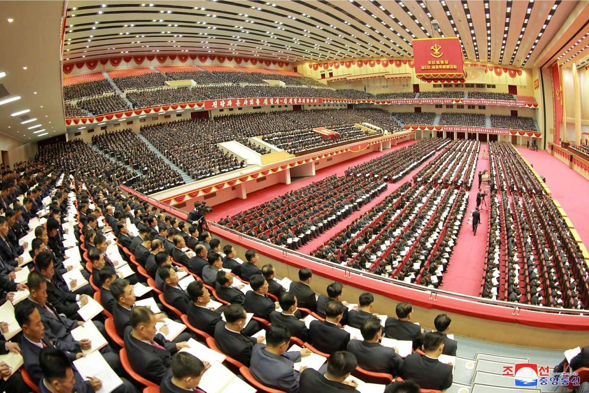 A general view of the opening of the 5th Conference of Cell Chairpersons of the Workers' Party of Korea (WPK) in Pyongyang, in this undated photo released by North Korea's Korean Central News Agency (KCNA) in Pyongyang on December 22,2017. PHOTO: KCN
