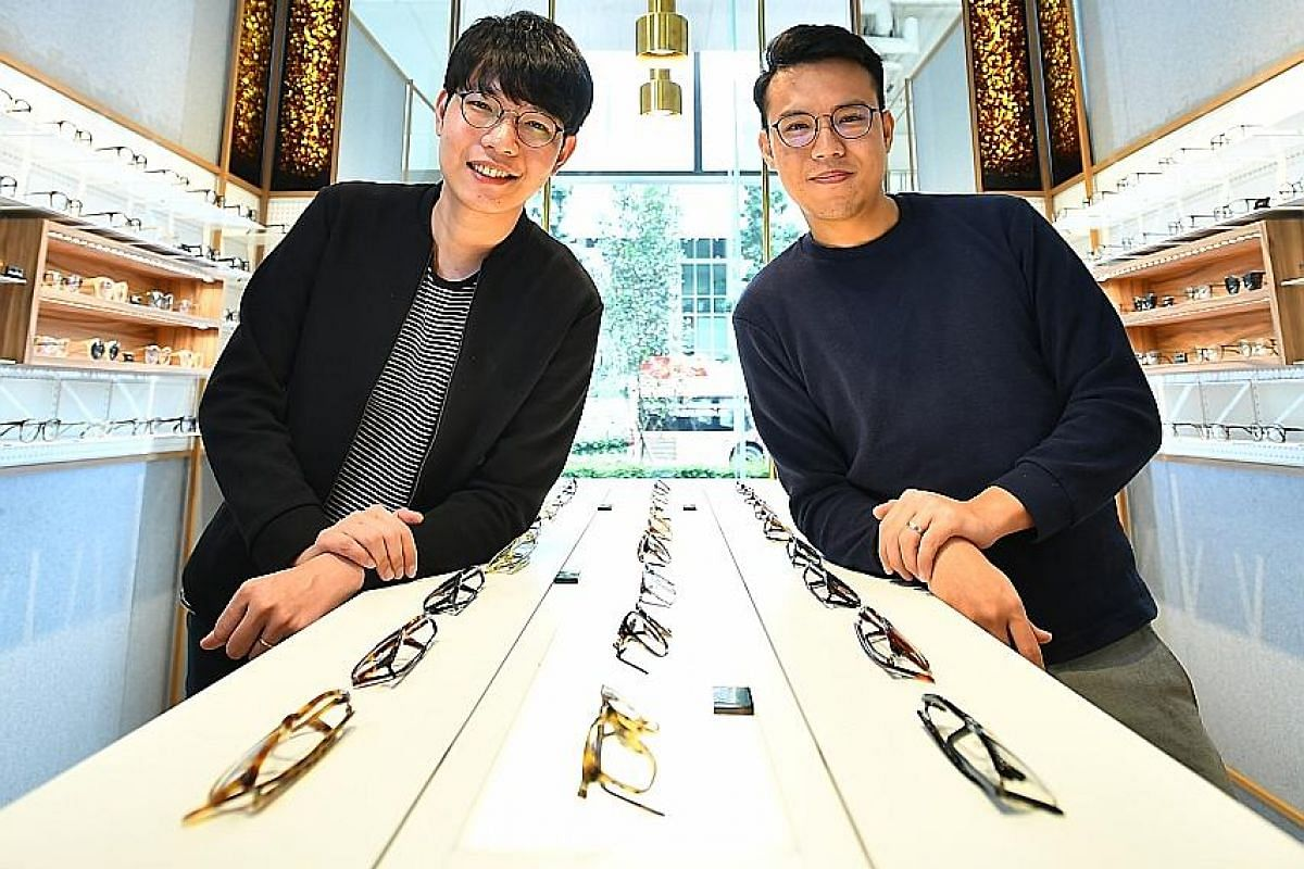 Silas (left) and Shamus Hwang rebranded their father's business to create eyewear label O+.