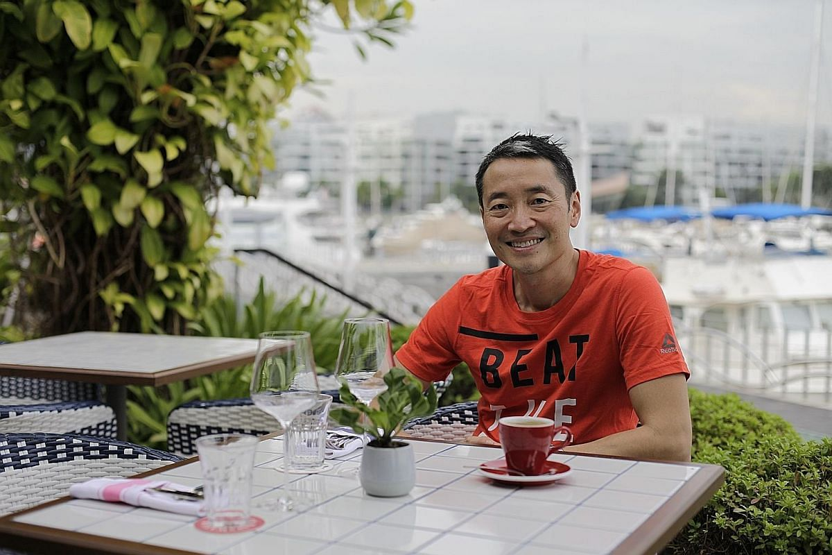 Mr Yuan Oeij (above, at Bayswater Kitchen at Keppel Bay) took up culinary courses and became a chef-for-hire before opening his first restaurant, Brown Sugar.