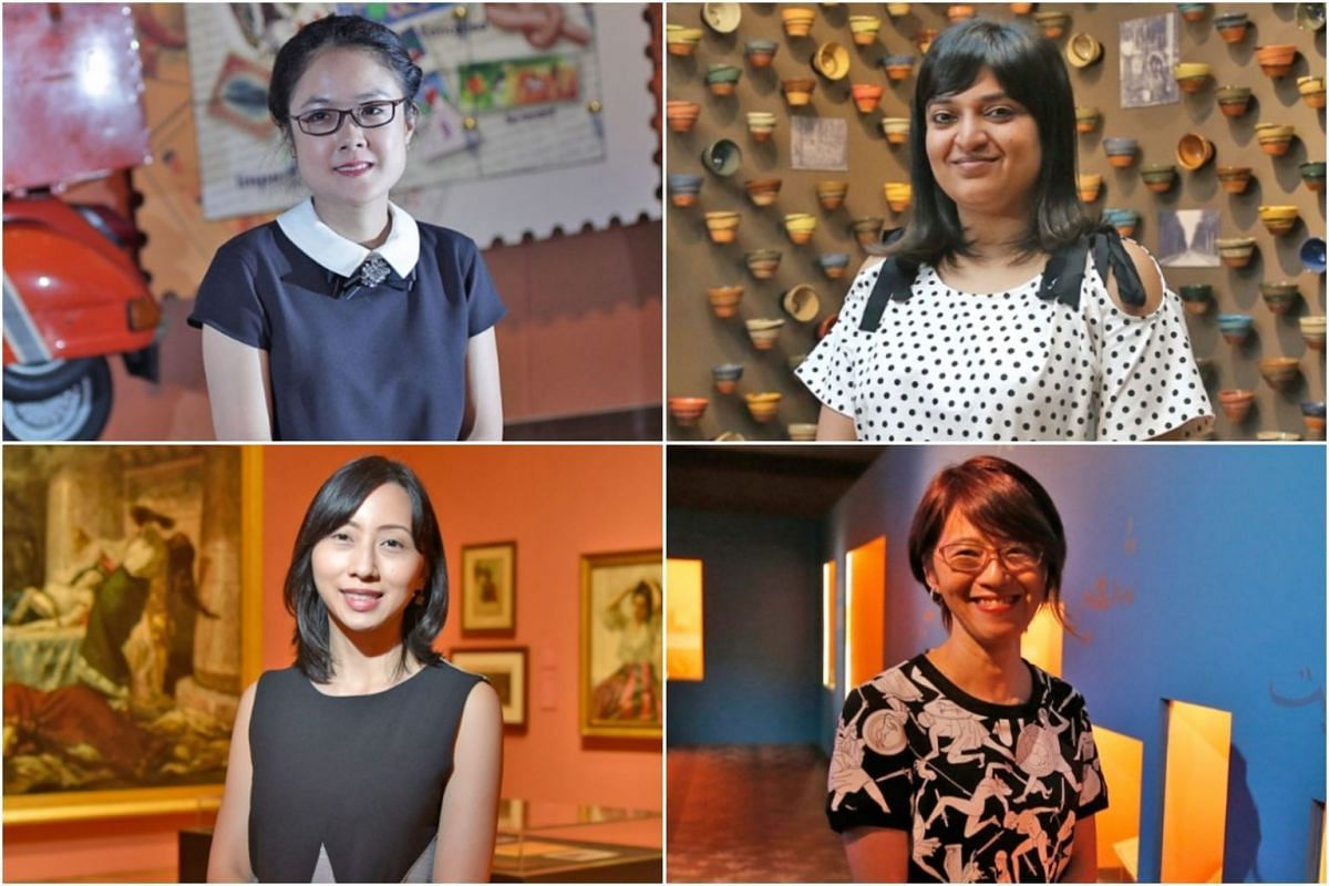 Clockwise from top left: Ms Mishelle Lim, Ms Nalina Gopal, Ms Tan Huism and Ms Clarissa Chikiamco.