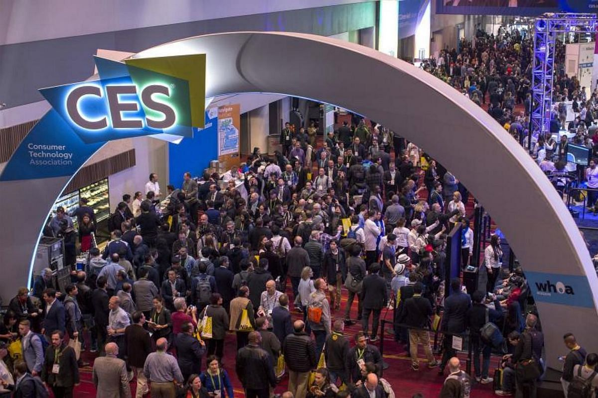People attend opening day of CES in Las Vegas, Nevada, on Jan 9, 2018.