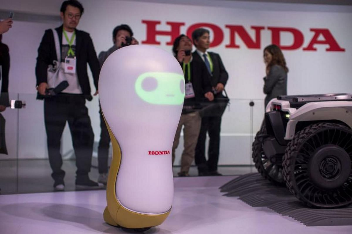 A Honda 3-C18 concept robot is shown at CES in Las Vegas, Nevada, on Jan 9, 2018.