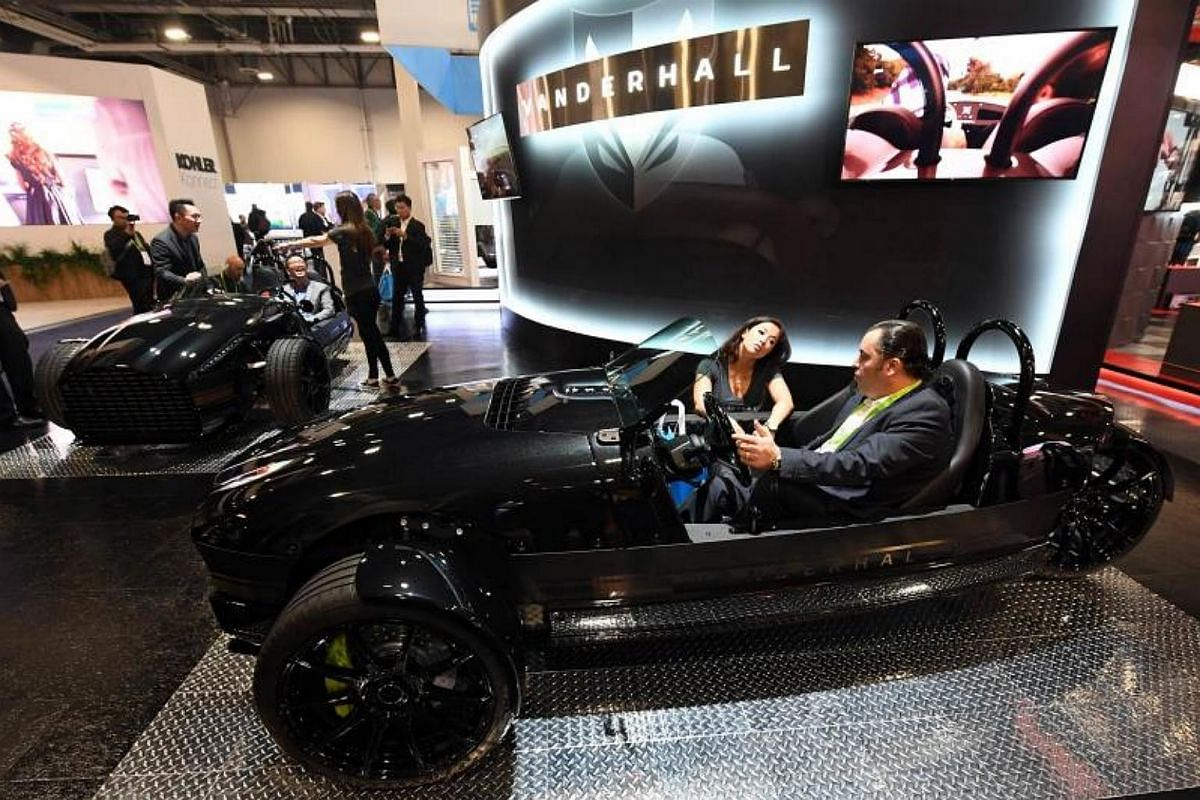 The US$34,950 Vanderhall Edison2 three-wheeled auto-cycle goes from 0-60 mph in four seconds and has a range of about 200 miles using a 30 kilowatt-hour lithium battery.