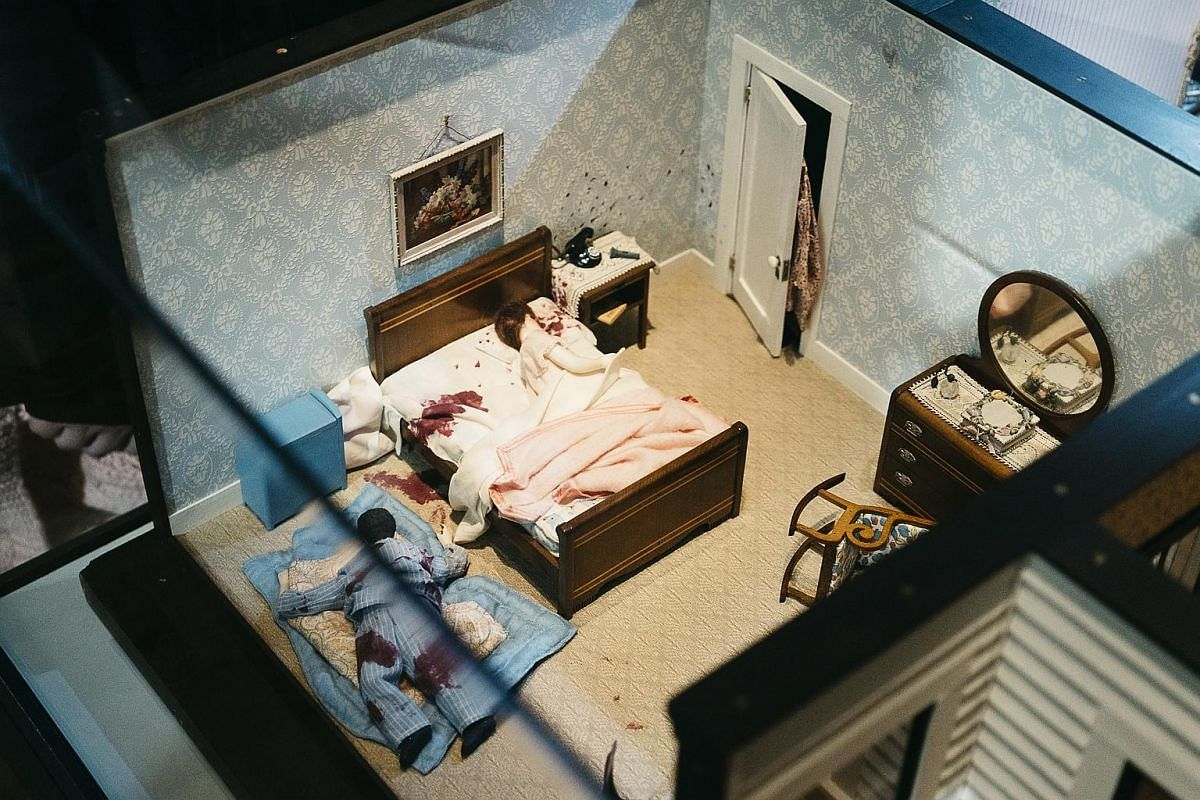 The Three-Room Dwelling, a miniature crime scene exhibited at the Smithsonian American Art Museum in Washington.