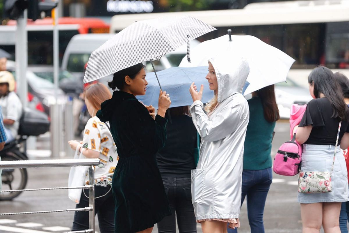 Women combating the cool weather in style along Orchard Road on Jan 12, 2018.