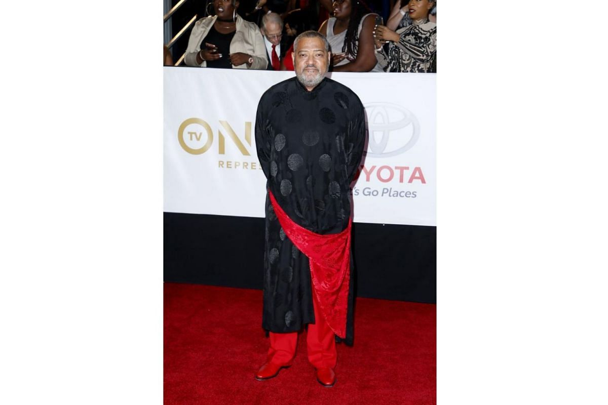 Actor Laurence Fishburne takes on the chang pao (traditional Chinese long robe for men).