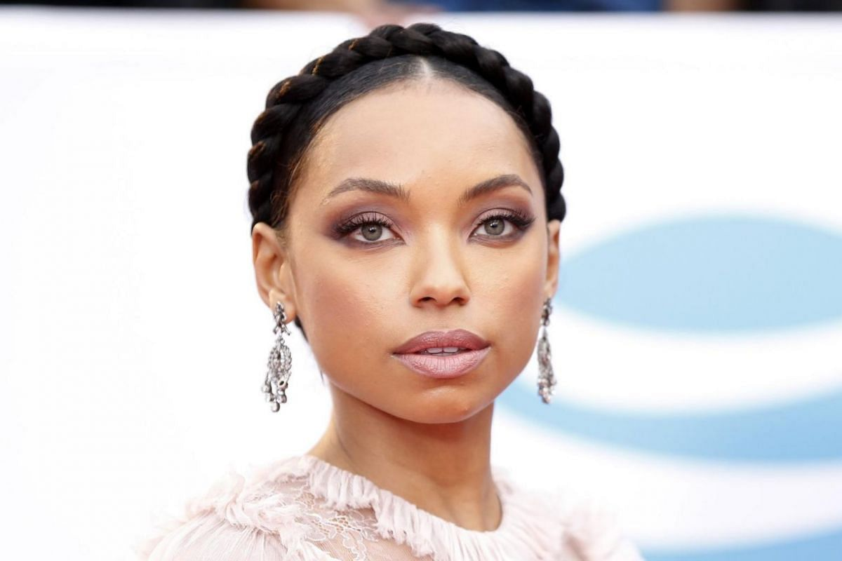 Actress Logan Browning, known for playing Sasha in Bratz: The Movie arrives on the red carpet.