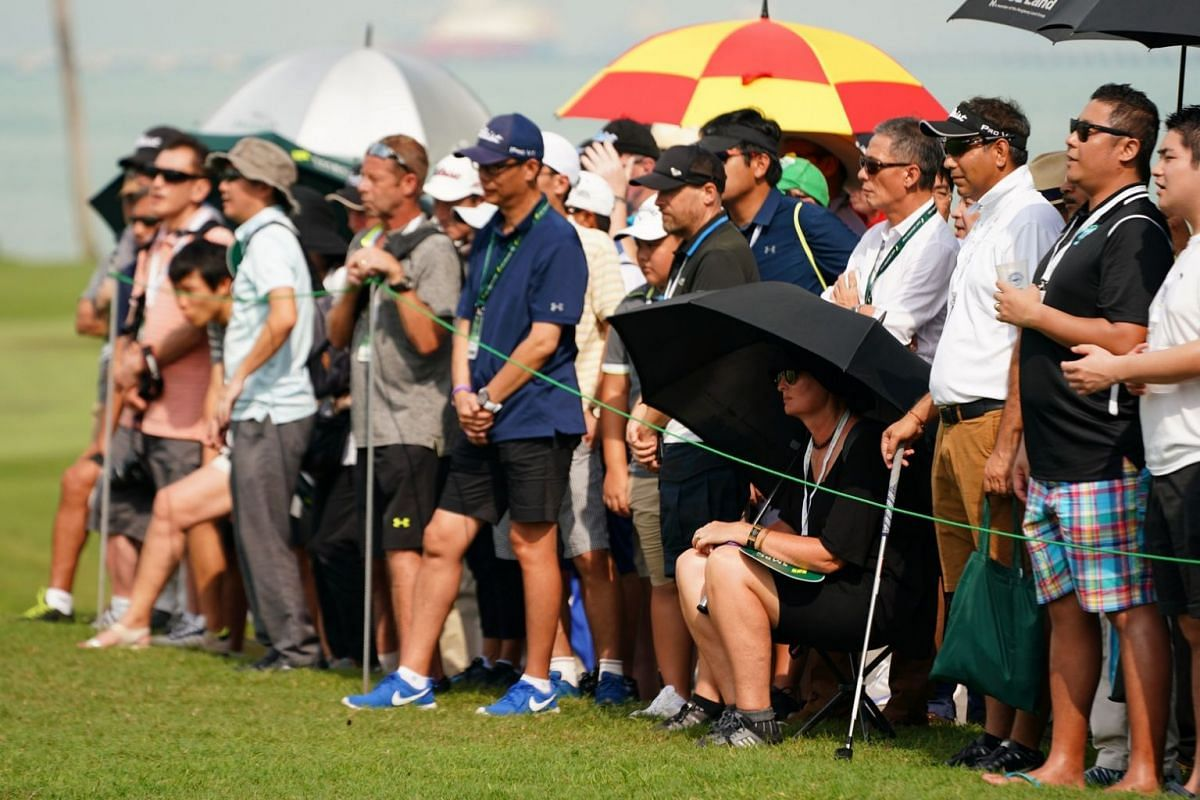 Spectators on the second day of the SMBC Singapore Open.