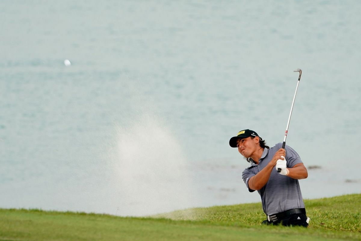 Gavin Green of Malaysia hits the ball during the second day of the SMBC Singapore Open.